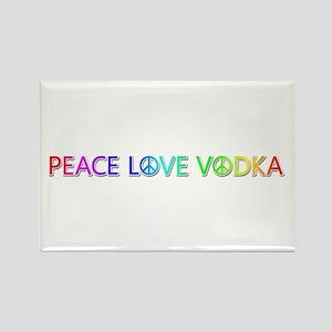 Peace Love Vodka Rectangle Magnet