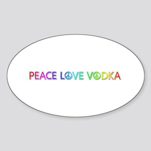 Peace Love Vodka Oval Sticker