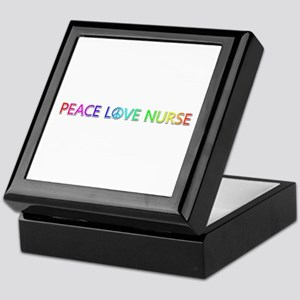 Peace Love Nurse Keepsake Box