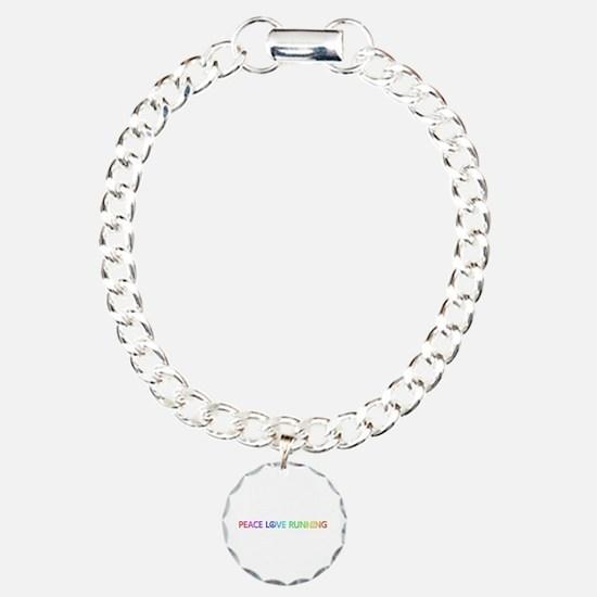 Peace Love Running Charm Bracelet