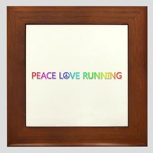 Peace Love Running Framed Tile