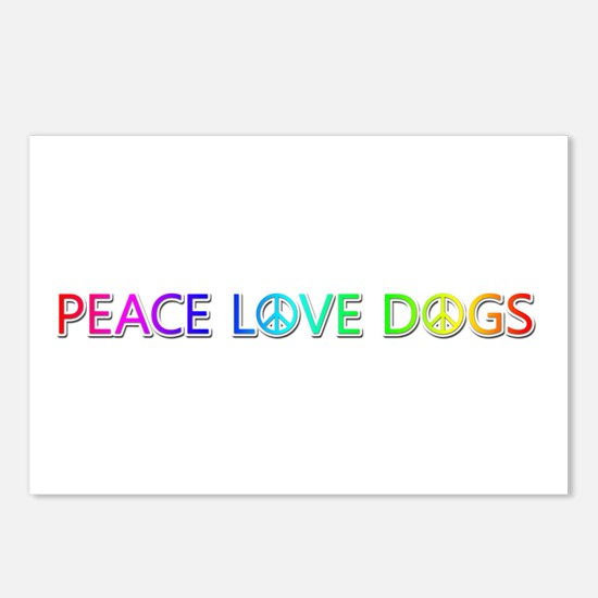 Peace Love Dogs Postcards 8 Pack