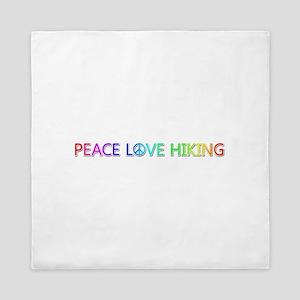 Peace Love Hiking Queen Duvet