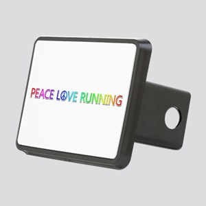 Peace Love Running Rectangular Hitch Cover