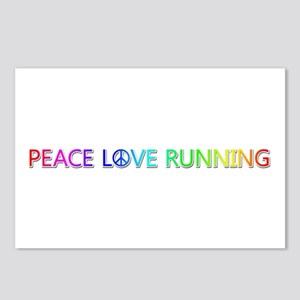 Peace Love Running Postcards 8 Pack