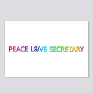 Peace Love Secretary Postcards 8 Pack