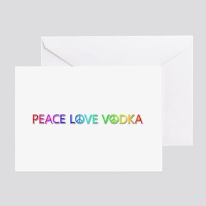 Peace Love Vodka Greeting Card