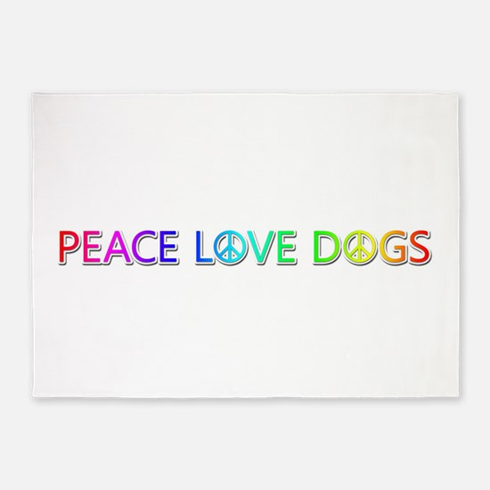 Peace Love Dogs 5'x7' Area Rug