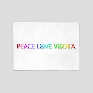 Peace Love Vodka 5'x7' Area Rug