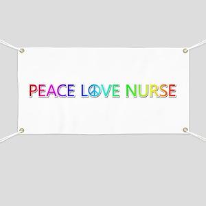 Peace Love Nurse Banner