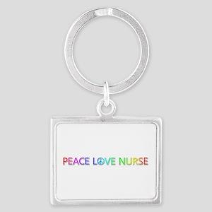 Peace Love Nurse Landscape Keychain