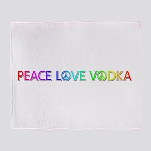 Peace Love Vodka Throw Blanket