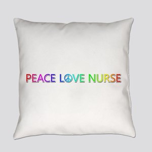 Peace Love Nurse Everyday Pillow