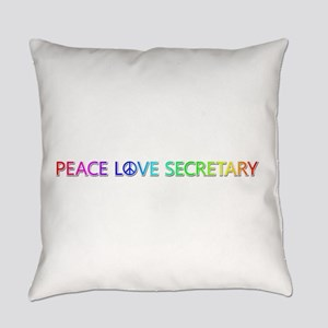 Peace Love Secretary Everyday Pillow
