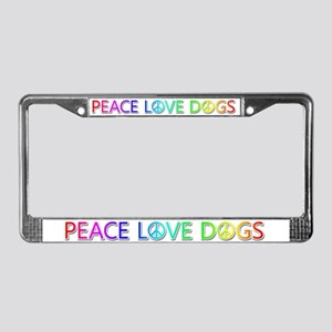 Peace Love Dogs License Plate Frame