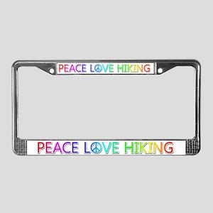 Peace Love Hiking License Plate Frame