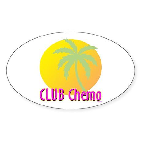 Club Chemo Oval Sticker