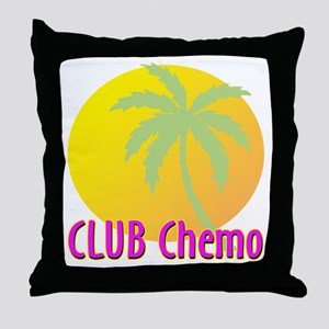 Club Chemo Throw Pillow