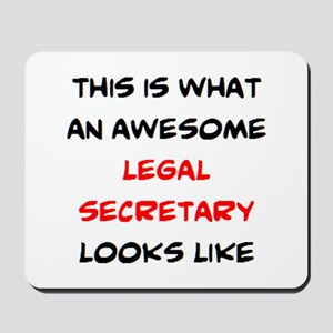 awesome legal secretary Mousepad