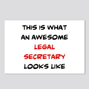 awesome legal secretary Postcards (Package of 8)