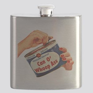 Can of Whoop Ass Flask