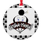 Checkerboard Logo Round Ornament