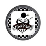 Checkerboard Logo Wall Clock