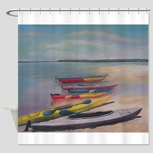 Kayaking Trip Shower Curtain