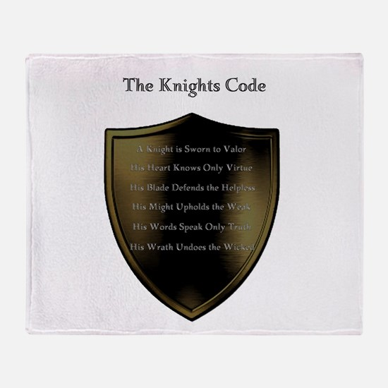The Knights Code white Throw Blanket