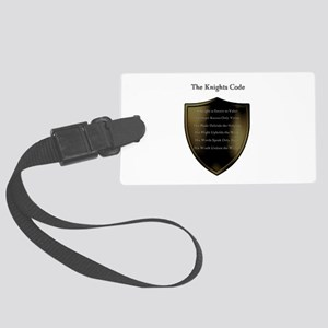 The Knights Code white Large Luggage Tag