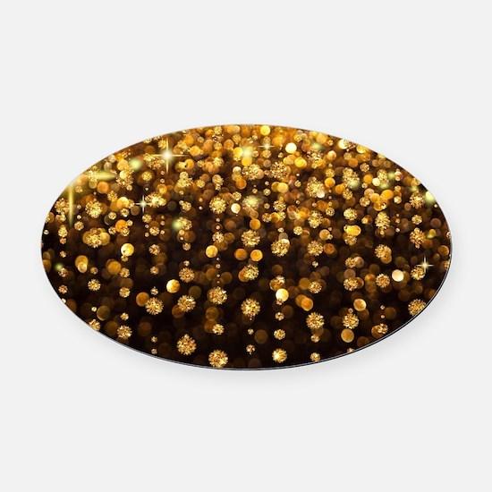 Luxurious Glamorous Sparkle Glitte Oval Car Magnet