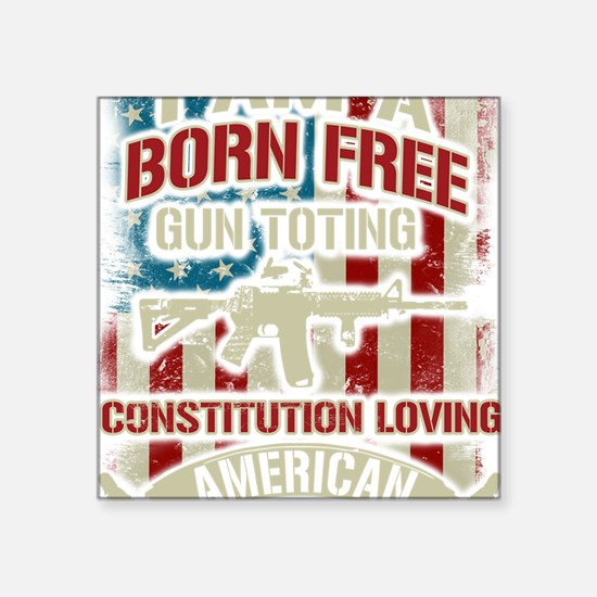 "Cute Gun owners of america Square Sticker 3"" x 3"""