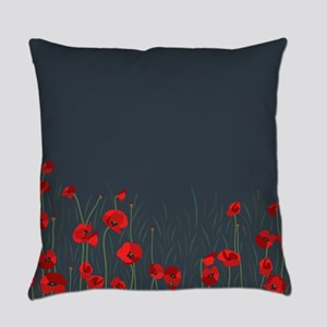Night, poppies Everyday Pillow