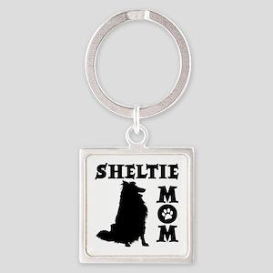 SHELTIE MOM Square Keychain