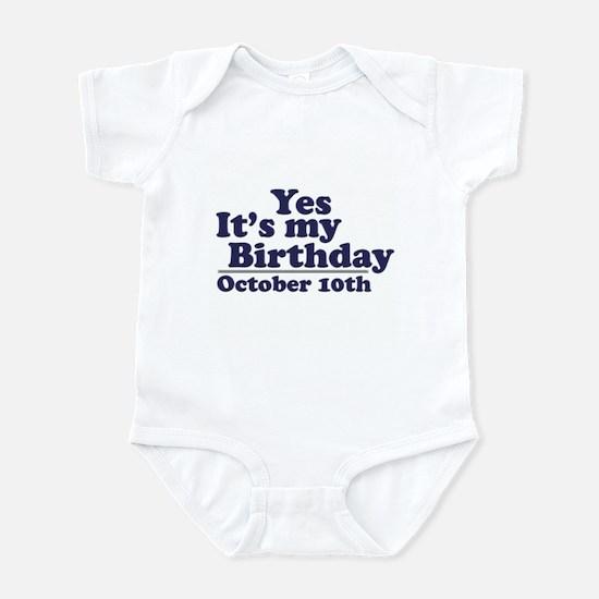 October 10th Birthday Infant Bodysuit