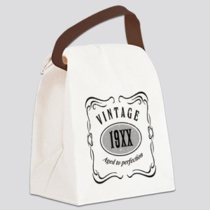 Vintage editable aged to perfecti Canvas Lunch Bag