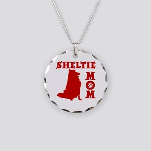 SHELTIE MOM Necklace Circle Charm