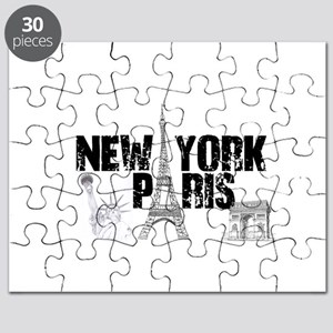 New York Paris Landmarks Puzzle
