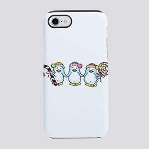 Penguin Trio with Candy iPhone 8/7 Tough Case