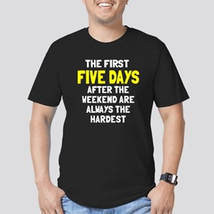 The first five days Men's Fitted T-Shirt (dark)