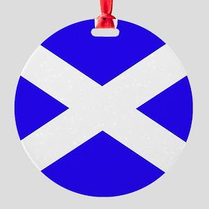 Scottish flag Round Ornament