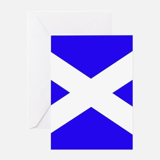 Scottish flag Greeting Cards