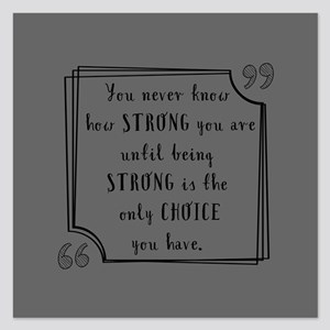 Being Strong Inspirational 5.25 x 5.25 Flat Cards