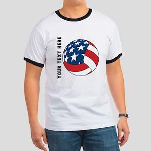 American Flag Volleyball (Custom) T-Shirt