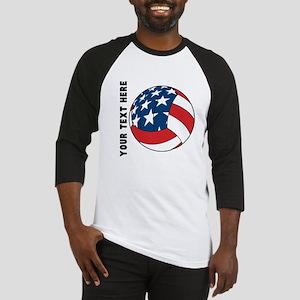 American Flag Volleyball (Custom) Baseball Jersey