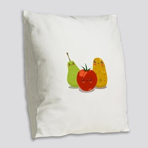 Funny Fruits Fun Pack 2 Burlap Throw Pillow