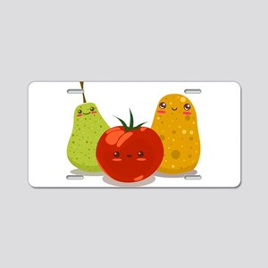 Funny Fruits Fun Pack 2 Aluminum License Plate