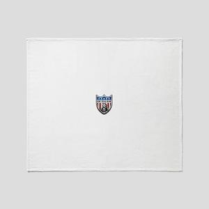 Don't Tread On Me Liberty Shield Throw Blanket