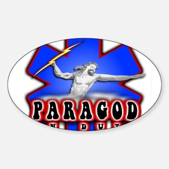 Paragod on duty Oval Decal