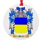 Merli Round Ornament